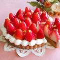 3月のお菓子の会『たっぷりいちごタルト』1ホール(15cm)